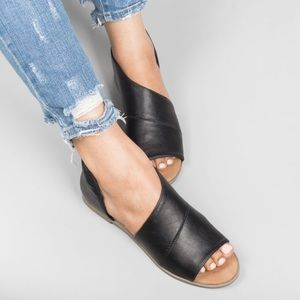 Shoes - Almost gone!!Oxford Open Toe Shank Ballerina Flat